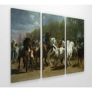 Astoria Grand 'The Horse Fair' Acrylic Painting Print Multi-Piece Image on Wrapped Canvas