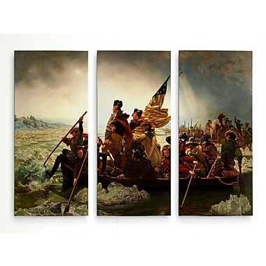 'Washington Crossing the Deleware' Acrylic Painting Print Multi-Piece Image on Wrapped Canvas