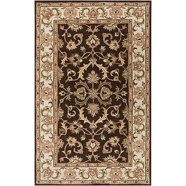 Astoria Grand Mckelvey Handmade Brown Area Rug; 5' x 8'