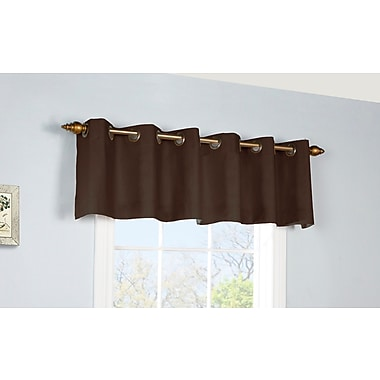 August Grove Narron Insulated Grommet 40'' Top Valance; Chocolate