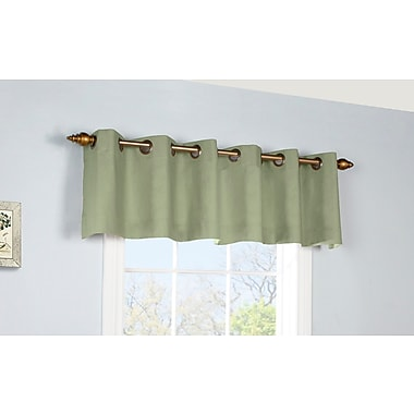August Grove Narron Insulated Grommet 40'' Top Valance; Sage