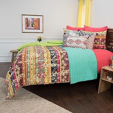 Bungalow Rose Croydon Geometric 100pct Cotton 3 Piece Reversible Quilt Set; King