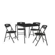 Ebern Designs Bangs 5 Piece Dinning Set; Black