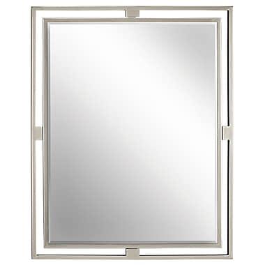 Brayden Studio Scotto Mirror; Brushed Nickel