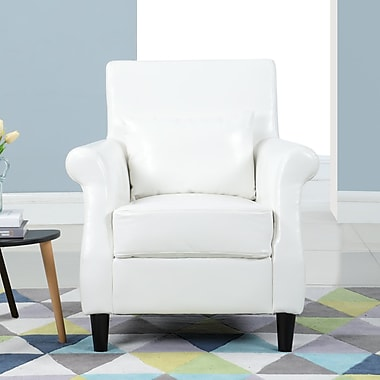 Charlton Home Ringwood Classic Faux Leather Club Chair; White