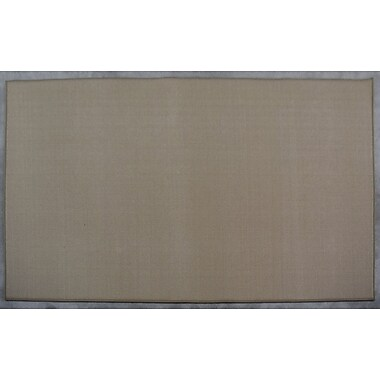 Charlton Home Robinette Beige Solid Area Rug; Rectangle 7'11'' x 9'10''