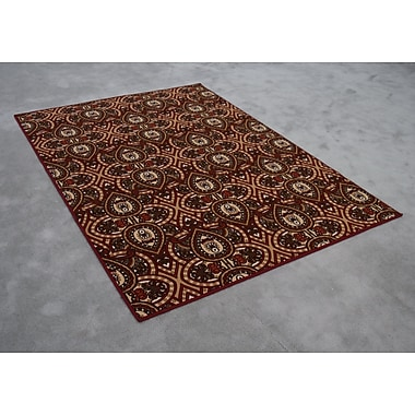 Charlton Home Rockdale Red Area Rug; Rectangle 3' x 5'