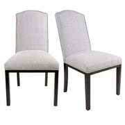 Darby Home Co Harpole Upholstered Wood Dining Chair (Set of 2); Silver