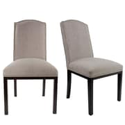 Darby Home Co Harpole Upholstered Wood Dining Chair (Set of 2); Cafe