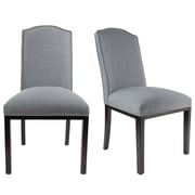 Darby Home Co Harpole Upholstered Wood Dining Chair (Set of 2); Metal