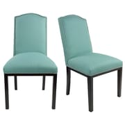 Darby Home Co Harpole Upholstered Dining Chair (Set of 2); Lagoon