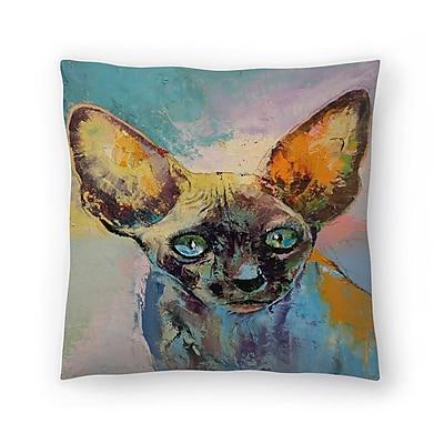 East Urban Home Michael Creese Sphynx Cat Portrait Throw Pillow; 16'' x 16''
