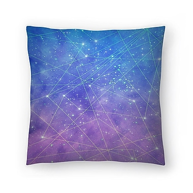 East Urban Home Tracie Andrews Map of the Stars Throw Pillow; 14'' x 14''