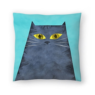 East Urban Home Tracie Andrews Tabby Throw Pillow; 16'' x 16''