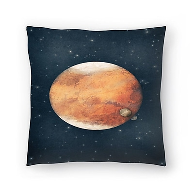 East Urban Home Tracie Andrews The Planet Throw Pillow; 18'' x 18''