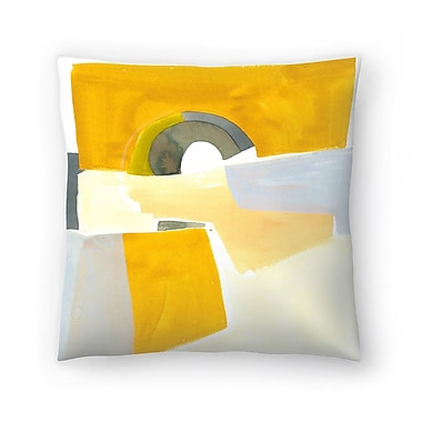 East Urban Home Olimpia Piccoli Afterglow Throw Pillow; 14'' x 14''