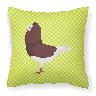 East Urban Home Pigeon Check Outdoor Throw Pillow; Green