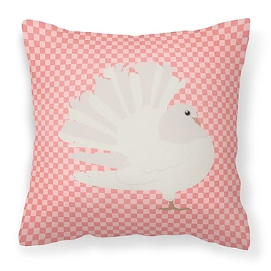 East Urban Home Fantail Pigeon Outdoor Throw Pillow; Pink