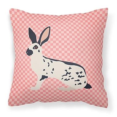 East Urban Home English Spot Rabbit Check Outdoor Throw Pillow; Pink