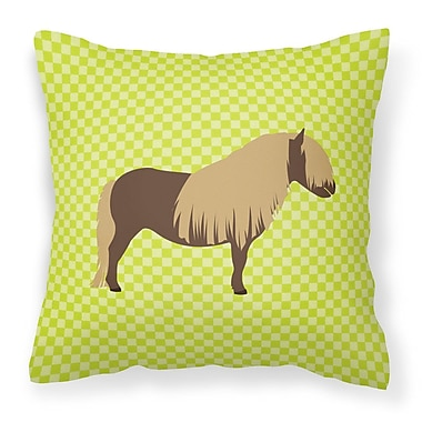 East Urban Home Pony Horse Outdoor Throw Pillow; Green
