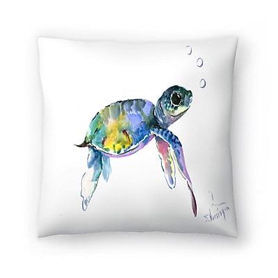 East Urban Home Suren Nersisyan Baby Sea Turtles 2 Throw Pillow; 14'' x 14''