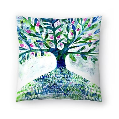 East Urban Home Paula Mills Floral Tree Throw Pillow; 16'' x 16''