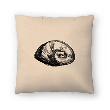 East Urban Home Jetty Printables Illustrated Sea Shell 2 Throw Pillow; 18'' x 18''