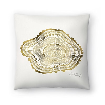 East Urban Home Cat Coquillette Tree Rings Throw Pillow; 14'' x 14''
