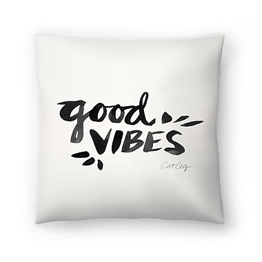East Urban Home Cat Coquillette Good Vibes Throw Pillow; 20'' x 20''