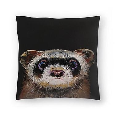 East Urban Home Michael Creese Ferret Throw Pillow; 14'' x 14''