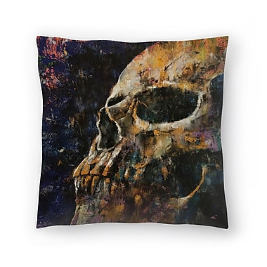 East Urban Home Michael Creese Skull Throw Pillow; 20'' x 20''