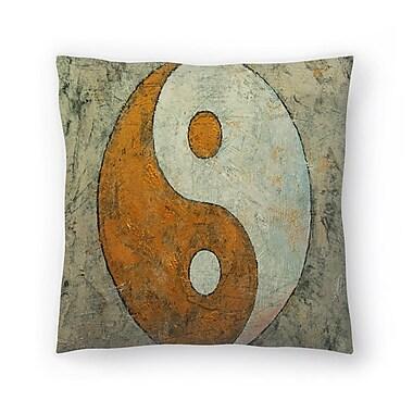 East Urban Home Michael Creese Yin and Yang Throw Pillow; 14'' x 14''