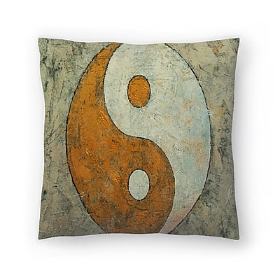 East Urban Home Michael Creese Yin and Yang Throw Pillow; 16'' x 16''