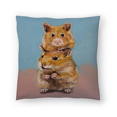 East Urban Home Michael Creese Hamsters Throw Pillow; 16'' x 16''
