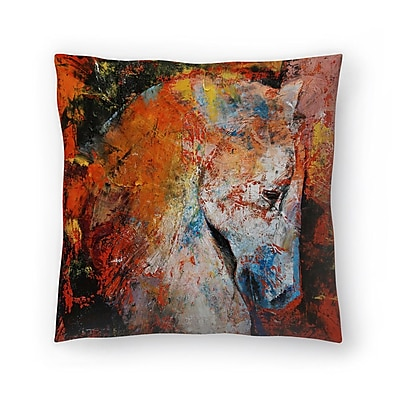 East Urban Home Michael Creese War Horse Throw Pillow; 18'' x 18''