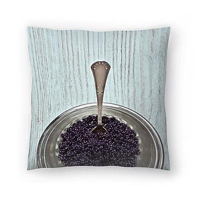 East Urban Home Maja Hrnjak Caviar Throw Pillow; 18'' x 18''