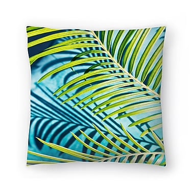 East Urban Home Maja Hrnjak Palm Throw Pillow; 14'' x 14''