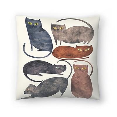 East Urban Home Tracie Andrews Cats Throw Pillow; 18'' x 18''