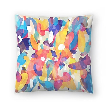 East Urban Home Tracie Andrews Chaotic Construction Throw Pillow; 16'' x 16''
