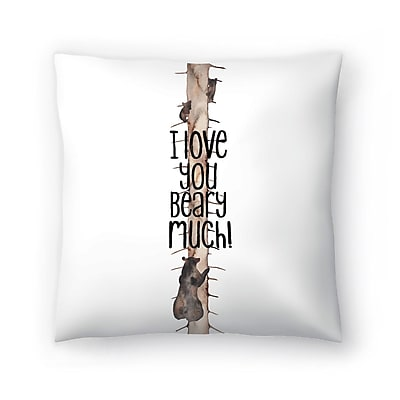 East Urban Home Elena O'Neill I Love You Beary Much Throw Pillow; 14'' x 14''