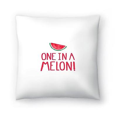 East Urban Home Elena O'Neill One in a Melon Throw Pillow; 20'' x 20''