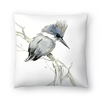 East Urban Home Suren Nersisyan Belted Kingfisher 2 Throw Pillow; 14'' x 14''