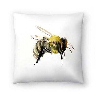 East Urban Home Suren Nersisyan Bumblebee 1 Throw Pillow; 16'' x 16''