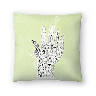 East Urban Home Paula Mills Floral Hand Throw Pillow; 20'' x 20''