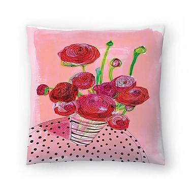 East Urban Home Paula Mills Flowers on My Table Throw Pillow; 14'' x 14''