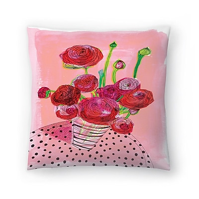 East Urban Home Paula Mills Flowers on My Table Throw Pillow; 18'' x 18''