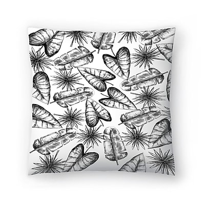 East Urban Home Jetty Printables Palm Leaf Pattern Throw Pillow; 14'' x 14''