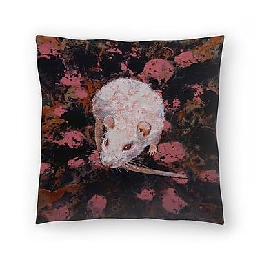 East Urban Home Michael Creese Rat Throw Pillow; 18'' x 18''
