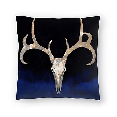 East Urban Home Michael Creese Deer Skull Throw Pillow; 16'' x 16''