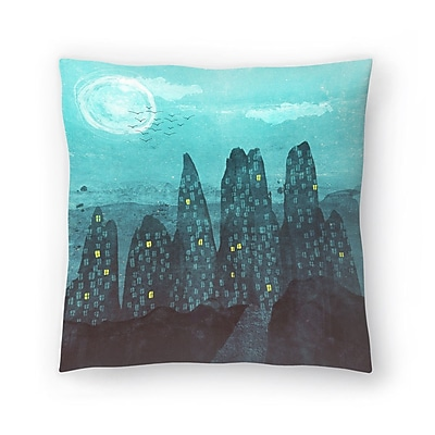 East Urban Home Tracie Andrews To the City Throw Pillow; 20'' x 20''